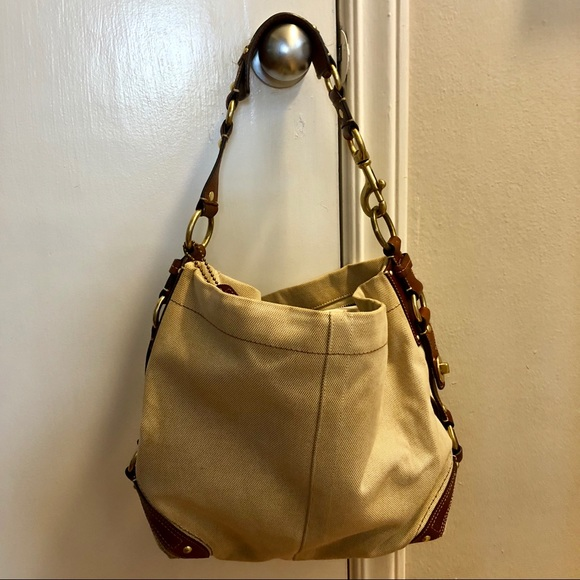0450c06bc5c Coach Bags   Fabric Bag With Leather Trim Brass Hardware   Poshmark